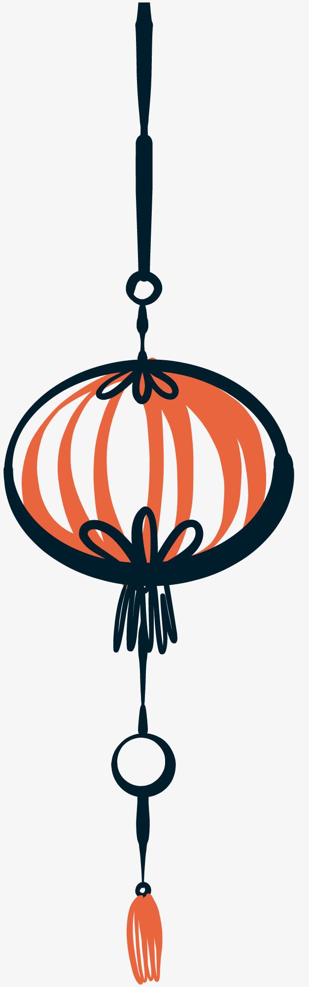 装饰手绘新年灯笼素材