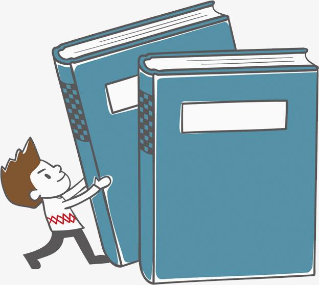 卡通搬书本的孩子免抠图png素材下载_高清图片png格式图片