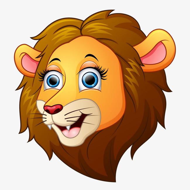 卡通手绘狮子头像设计