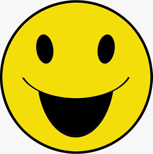 黄色手绘笑脸表情装饰