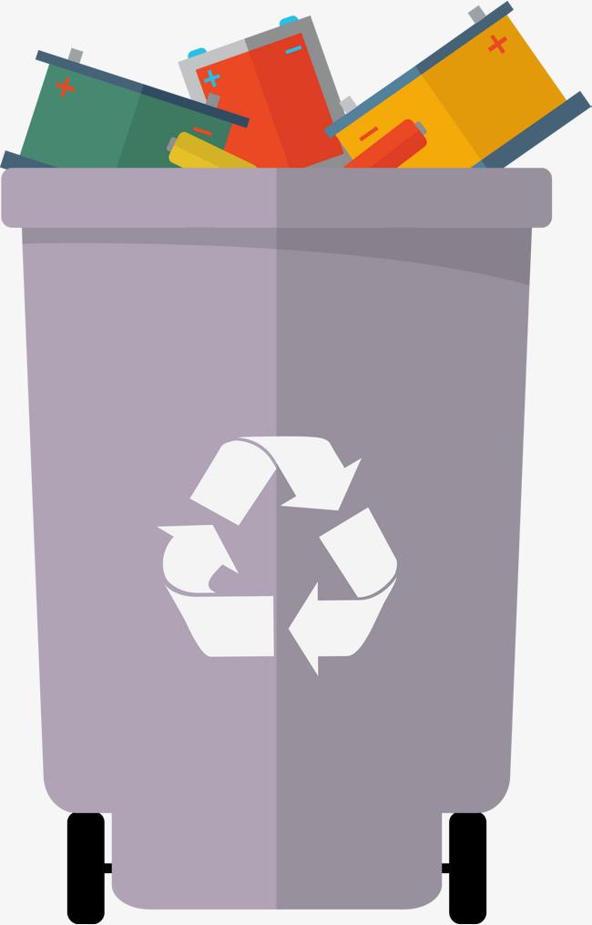 扁平化垃圾桶素材图图片