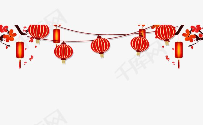 春节海报灯笼装饰