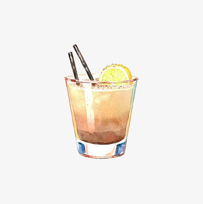 手绘果汁饮料简图