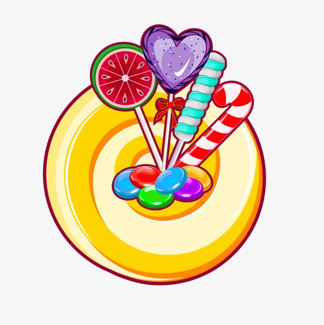 卡通彩色棒棒糖矢量图png素材下载_高清图片png格式