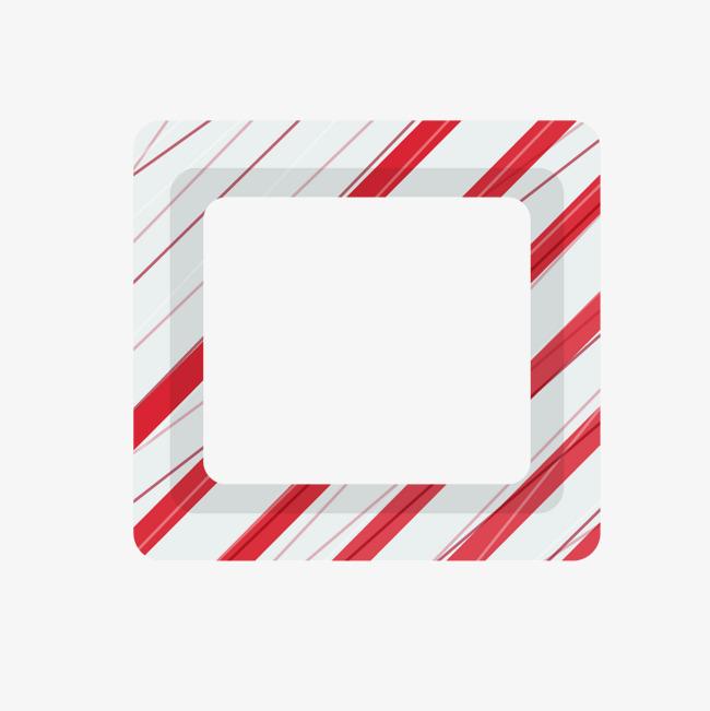 卡通红色条纹边框矢量图
