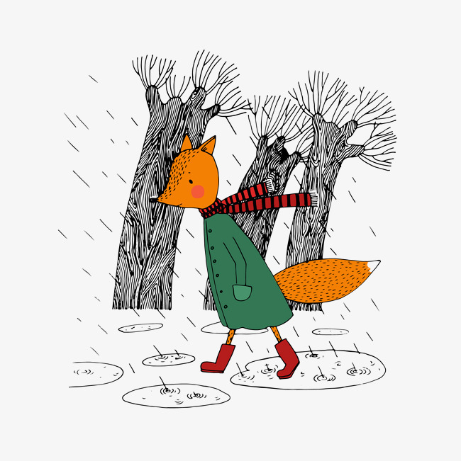 卡通矢量图手绘湿衣服