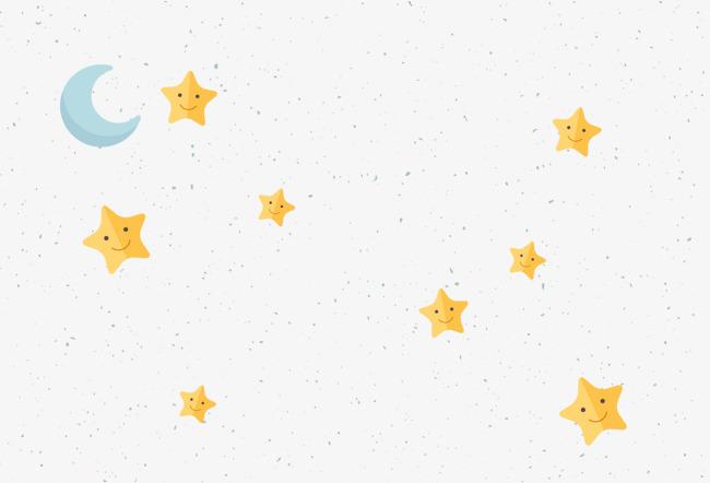 卡通星星月亮矢量图