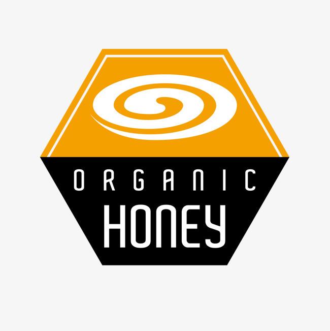 矢量honey卡通扁平化蜂蜜黄