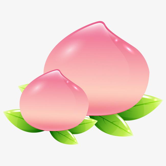 粉色卡通桃子装饰