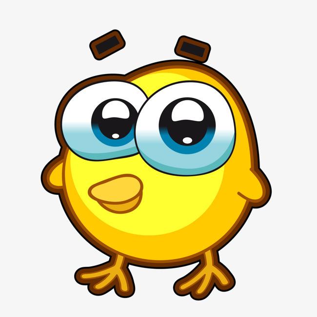 卡通黄色的小鸡动物设计