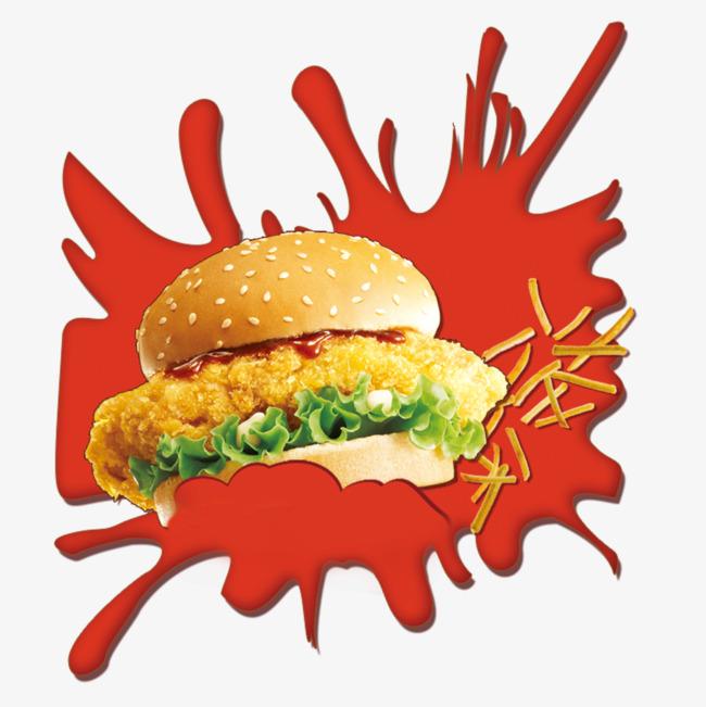 汉堡宣传海报设计