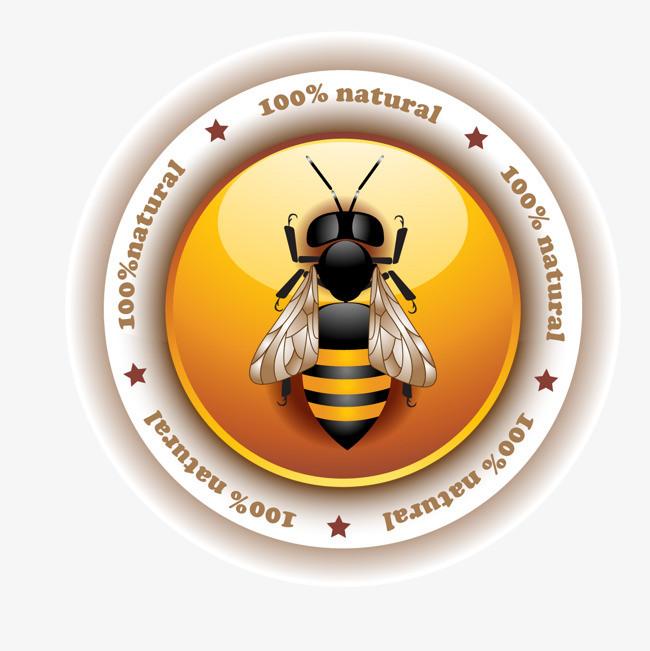 矢量卡通扁平化蜂蜜黄油装饰