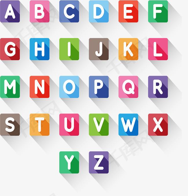 26个方形大写字母矢量素材图片免费下载 高清psd 千库网 图片编号9861119