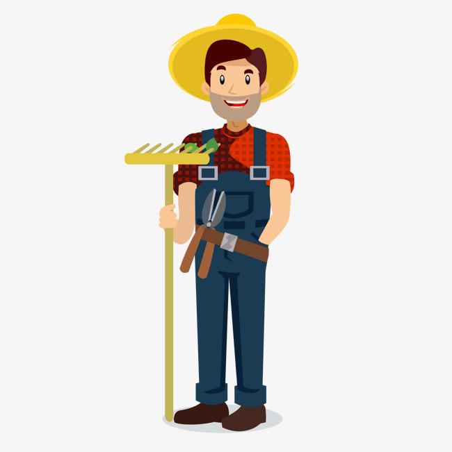 矢量卡通扁平化候选人农民png图片