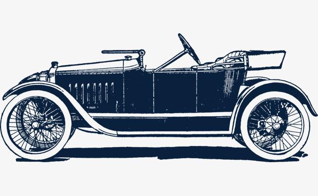 古代汽车手绘素材