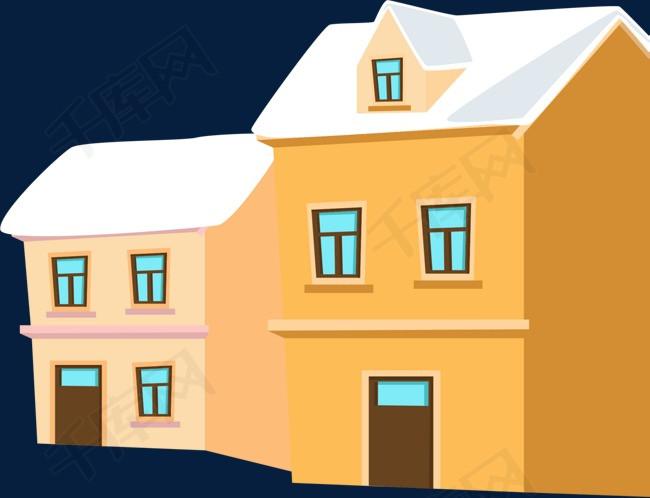 冰天雪地城镇房屋素材图片免费下载 高清png 千库网 图片编号9861680