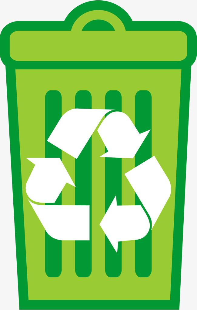 绿色回收垃圾桶图图片