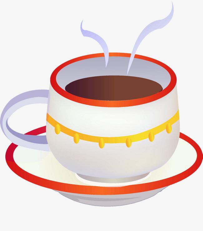 卡通手绘咖啡杯png