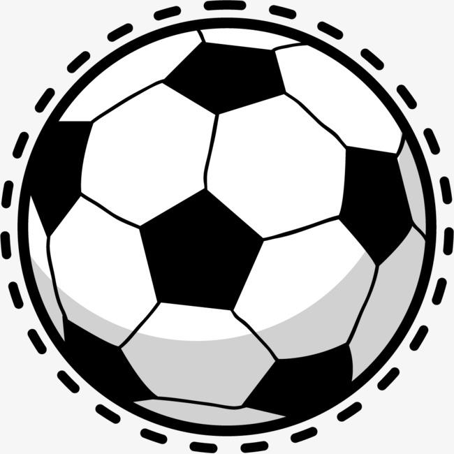 黑白手绘体育足球