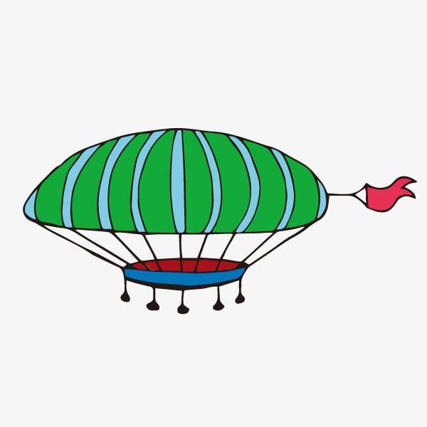 卡通装饰热气球小清新插画