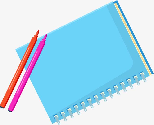 开学季蓝色笔记本png素材下载_高清图片png格式(编号