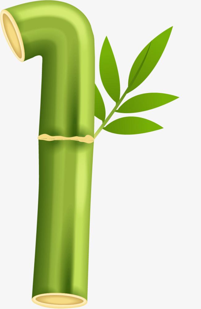 绿色竹子英文字母i