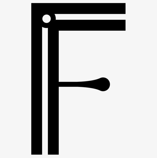 卡通手绘英文字母f图片