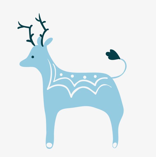 卡通可爱小动物装饰设计动物头像圣诞鹿