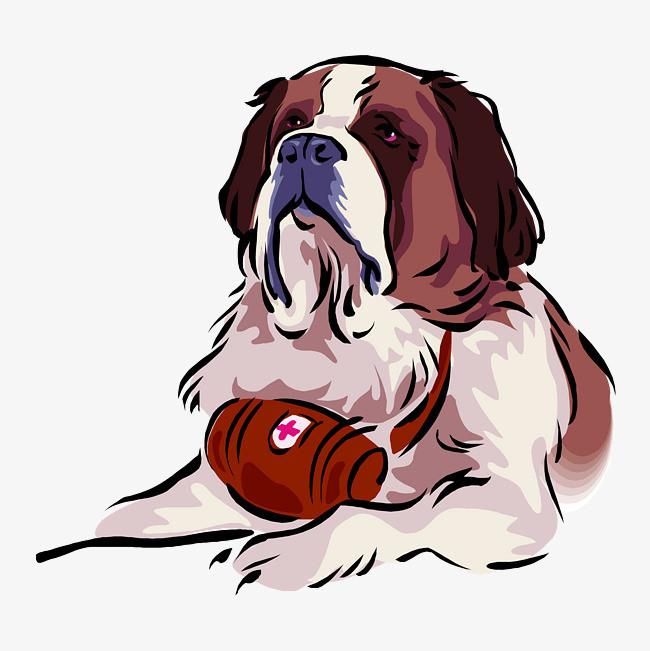 卡通可爱小动物装饰设计动物头像手绘狗狗图片