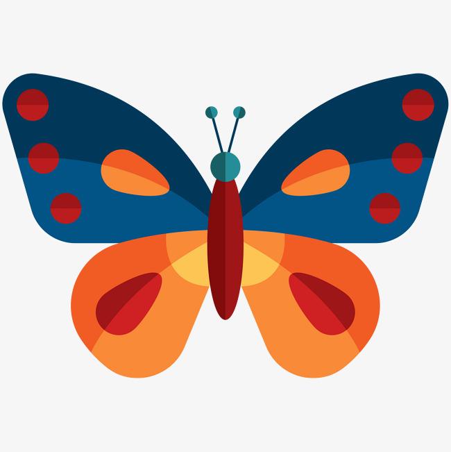 卡通可爱小动物装饰设计动物头像蝴蝶