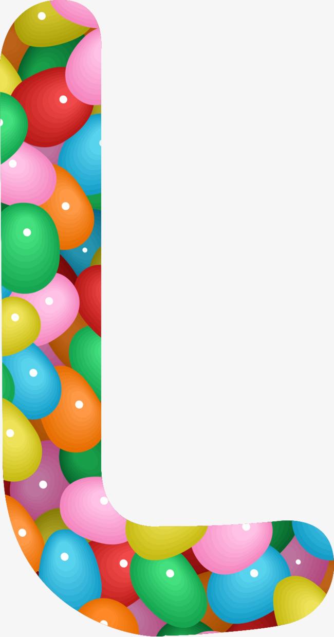 彩色气球拼接字母l