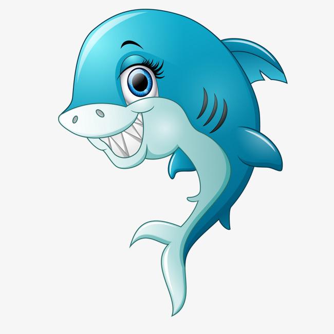 卡通可爱的鲨鱼动物设计