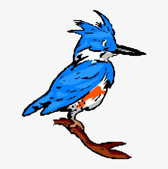卡通手绘文艺简约动物水粉画小鸟