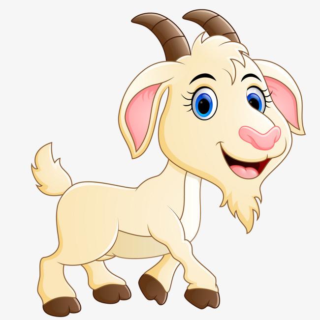 卡通手绘山羊动物设计