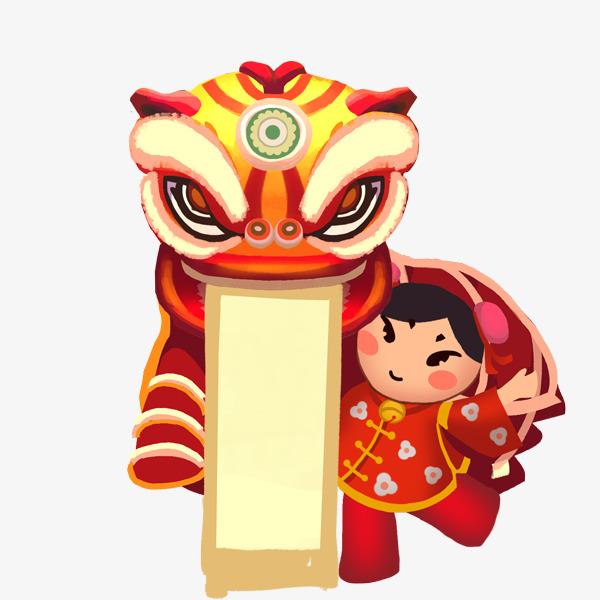 春节过年喜庆装饰舞狮子拜年插图