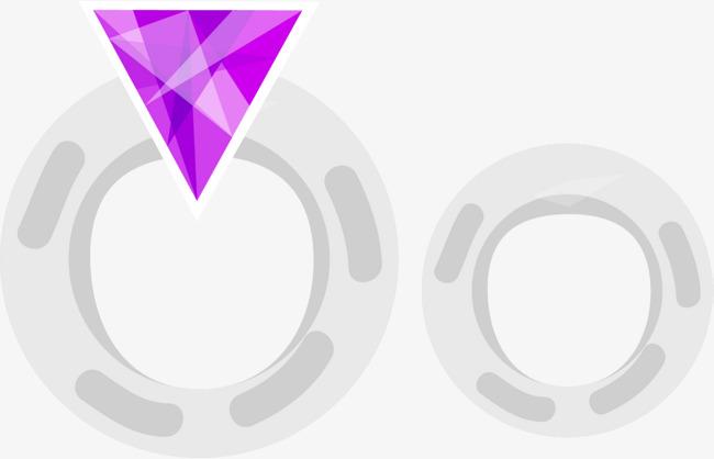 婚礼银色钻石对戒png素材下载_高清图片png格式(编号