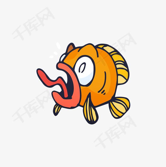 卡通手绘黄色的小鱼素材图片免费下载 高清png 千库网 图片编号9886972
