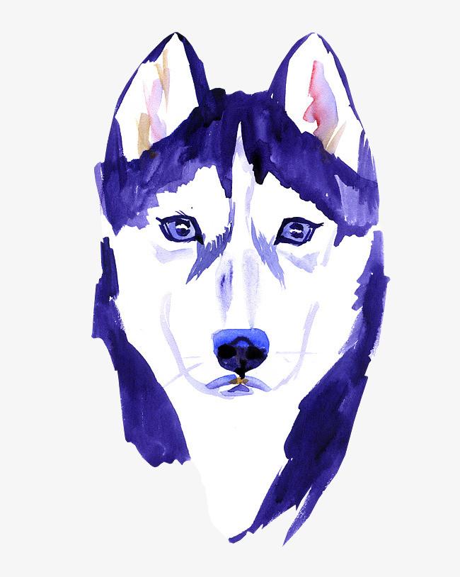 卡通可爱小动物装饰设计动物头像手绘狗狗