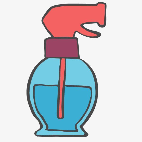 卡通手绘蓝色喷壶图片