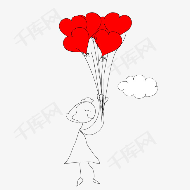 矢量图人物女士卡通情人节心形矢量图免费下载 高清png图片 90设计网