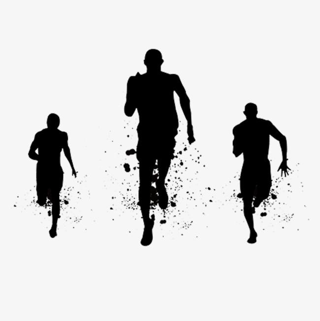 起跑跑步的人设计素材