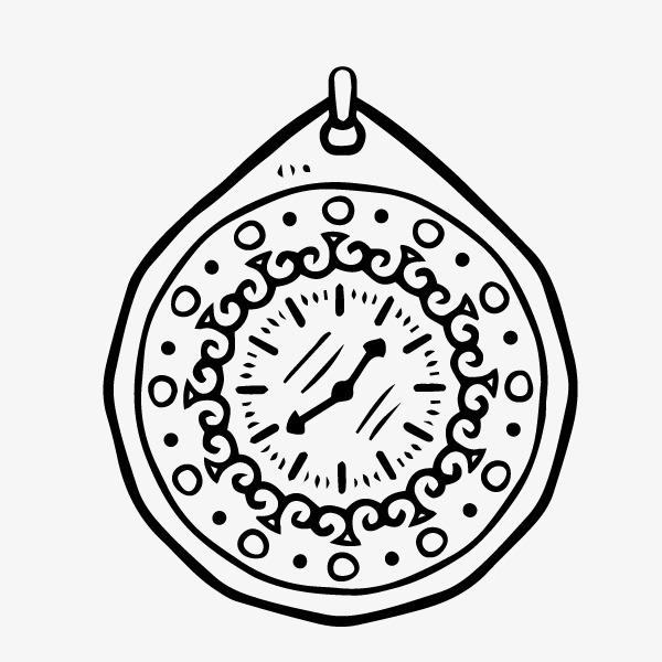 卡通手绘欧式家具钟表
