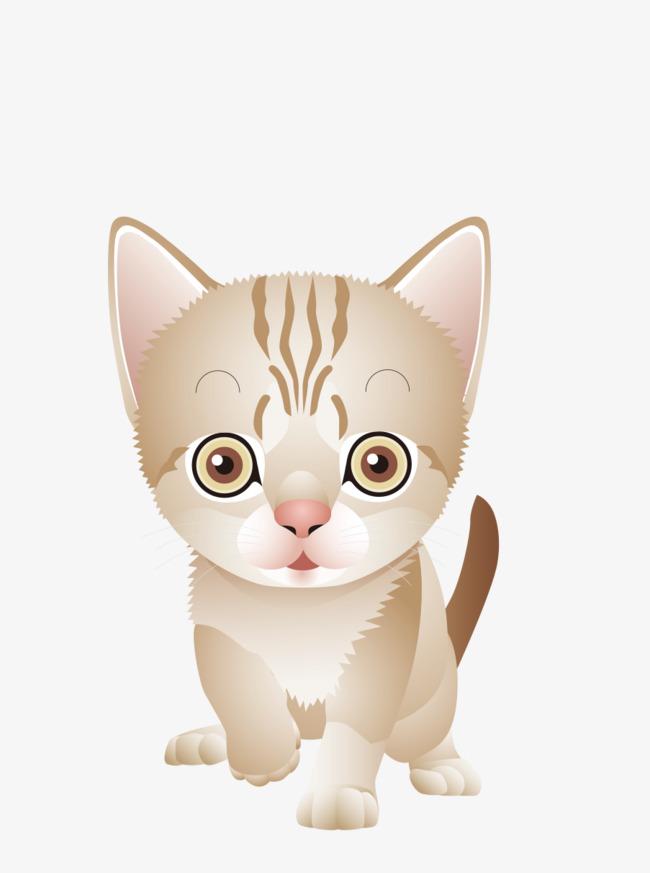 萌萌的小猫咪手绘图png素材下载_高清图片png格式(:)