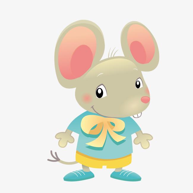 卡通可爱小老鼠矢量图图片
