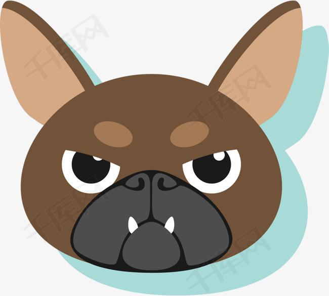 狗年卡通棕色小狗头像图片