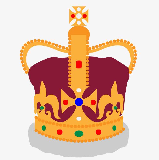 手绘皇冠设计矢量图