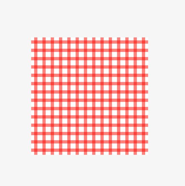 矢量手绘彩色格子餐布