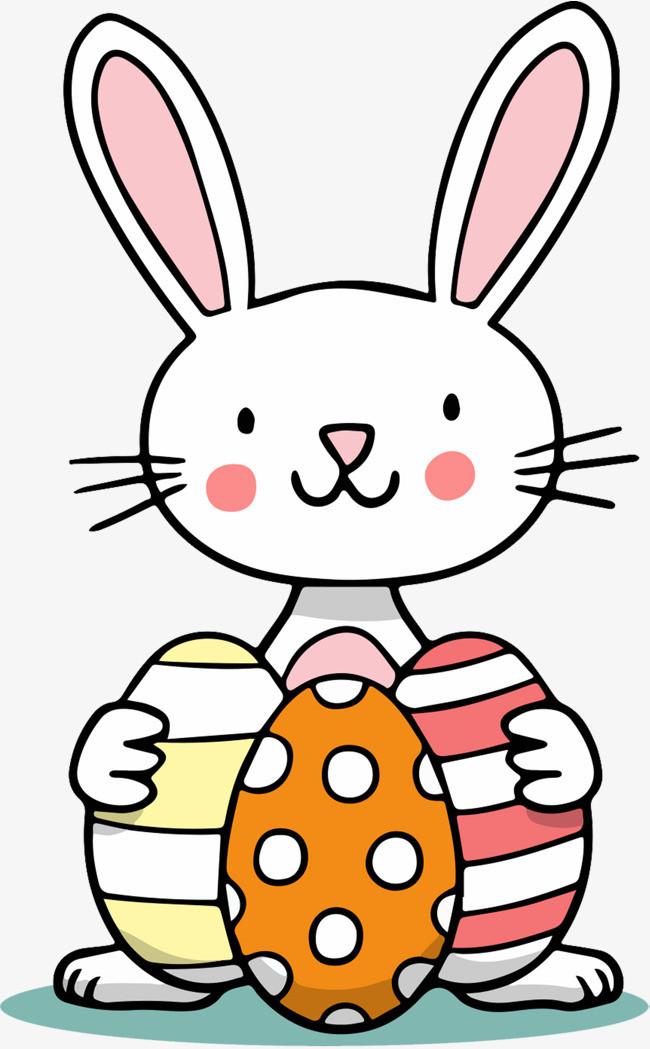 卡通手绘可爱小兔子免抠图