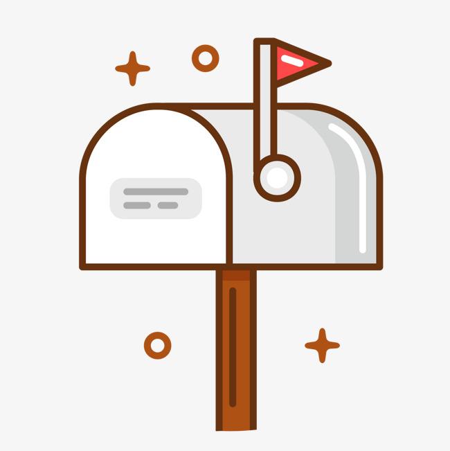 灰色手绘线稿邮箱元素