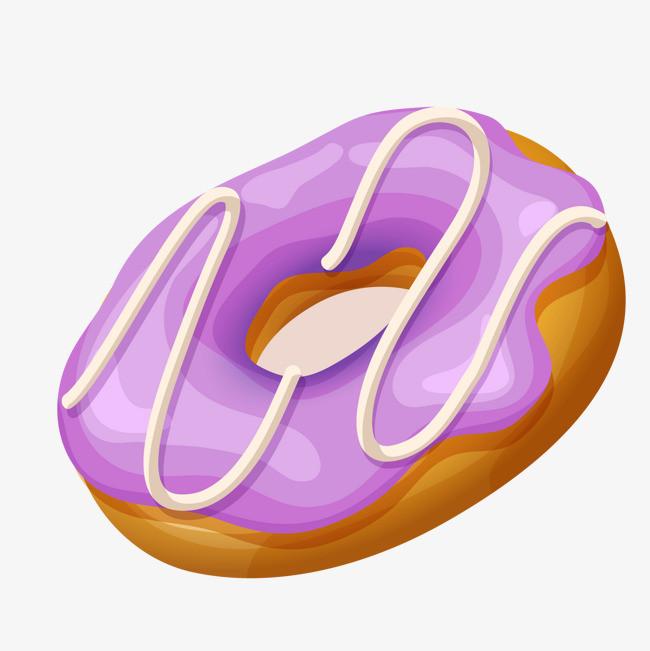 紫色的卡通甜甜圈设计图片